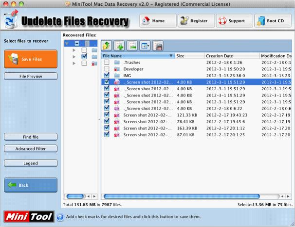 Restore deleted Mac files with free Mac file recovery software.